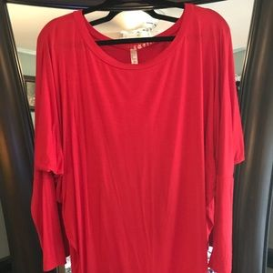 Tops - RED DOLMAN TOP